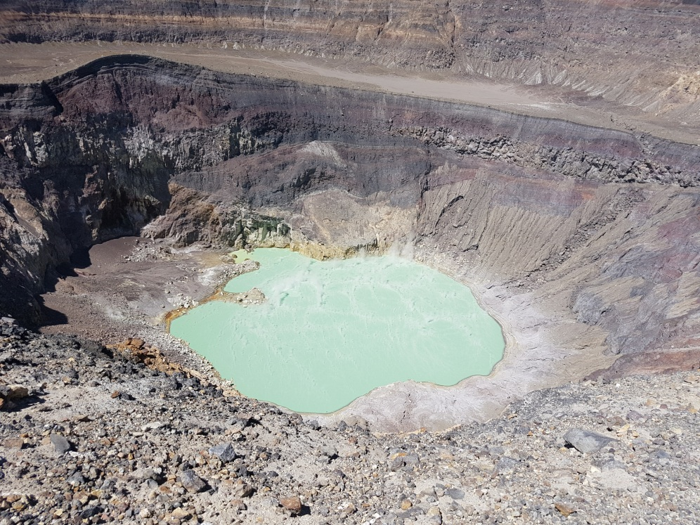 Cráter volcán Ilamatepec